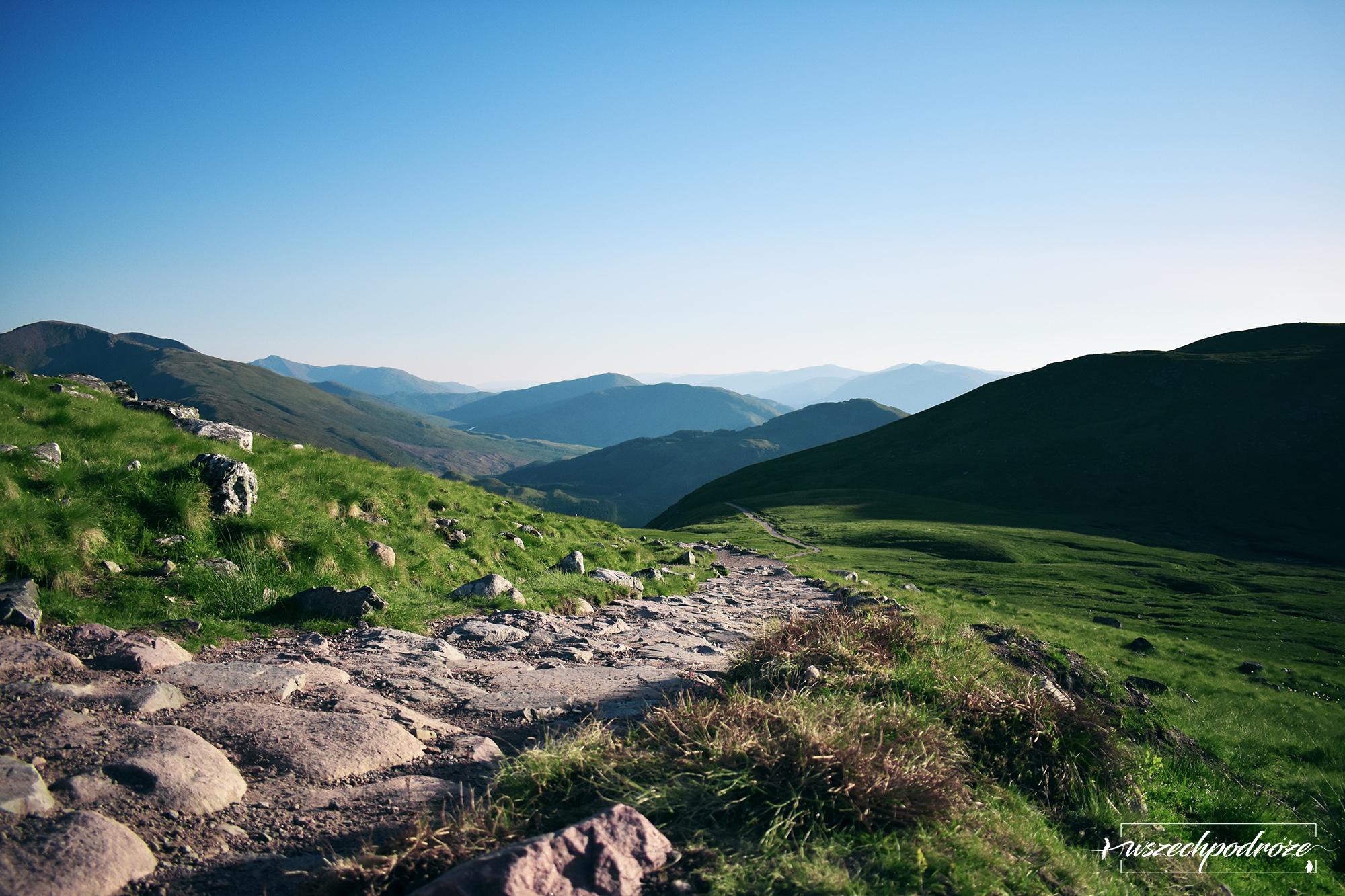 Ben Nevis latem połowa drogi Szkocja
