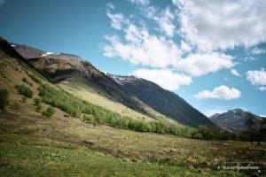 Ben Nevis Szkocja widok z Glen Nevis