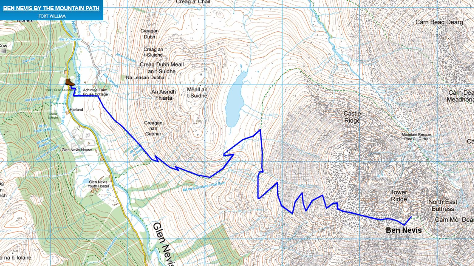 Ben Nevis główna trasa szlak