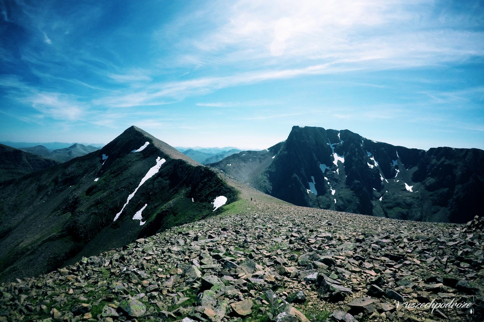 Ben Nevis Szkocja trasa przez szczyty