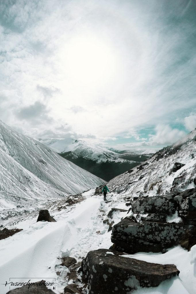 Ben Nevis zimą niebezpieczny