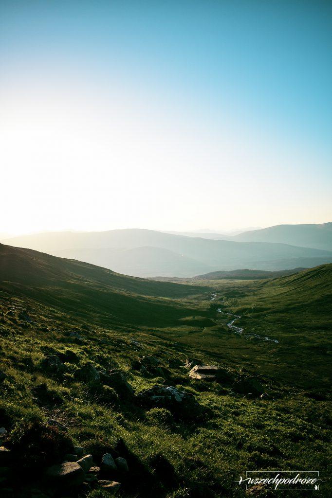 Ben Nevis alternatywna trasa zachód słońca